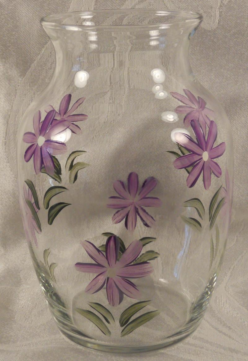 8 Inch Vase - Daisies - Lilac